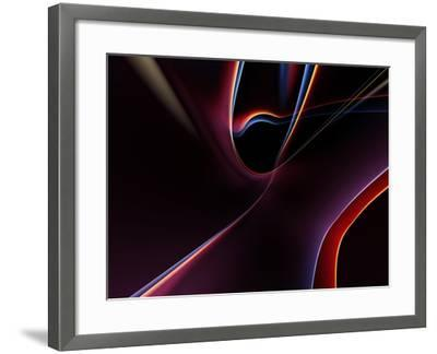3D Rendered Backgrounds- ESolBiz-Framed Art Print