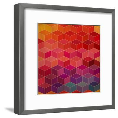Rhombic Seamless Pattern.Seamless Pattern Can Be Used for Wallpaper, Pattern Fills, Web Page Backgr-Markovka-Framed Art Print