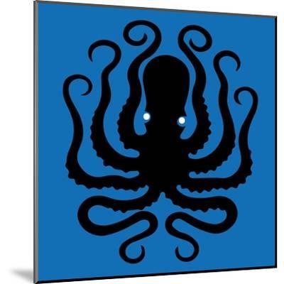 Octopus Icon-Complot-Mounted Art Print