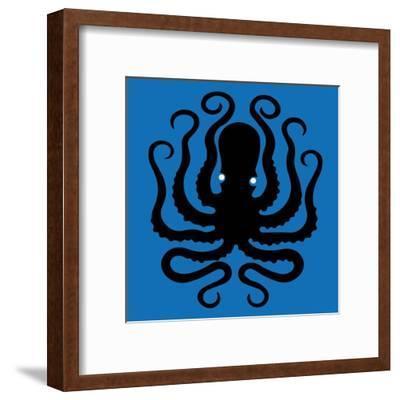 Octopus Icon-Complot-Framed Art Print