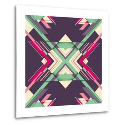 Futuristic Abstraction with Geometric Shapes. Vector Illustration.-Radoman Durkovic-Metal Print