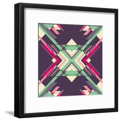 Futuristic Abstraction with Geometric Shapes. Vector Illustration.-Radoman Durkovic-Framed Art Print