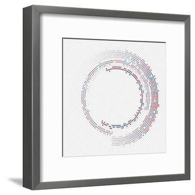 Abstract Circle Halftone Vector Illustration. Logotype- T-flex-Framed Art Print