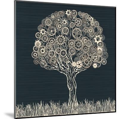 Tech Tree.-RYGER-Mounted Art Print