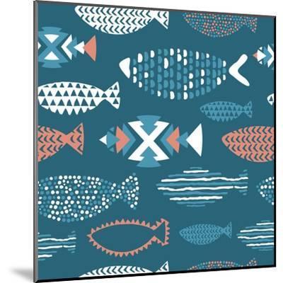 Tribal Fish Pattern-Tasiania-Mounted Art Print