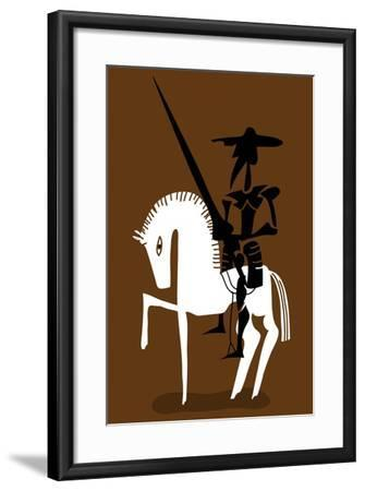 Don Quixote Knight and His Horse-Complot-Framed Art Print