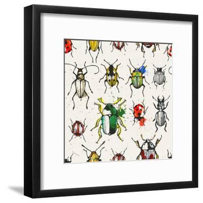 Watercolor Beetles-EV-DA-Framed Art Print