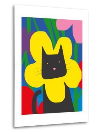 Cat Look 1-Artistan-Metal Print