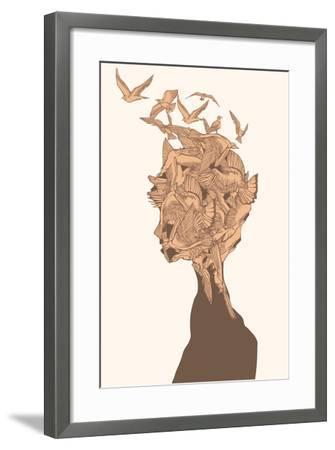 Fantasy Birds-RYGER-Framed Art Print
