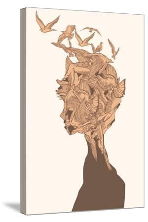 Fantasy Birds-RYGER-Stretched Canvas Print
