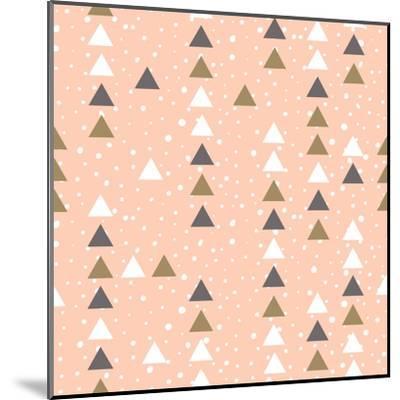Pink Hipster Geometrical Seamless Vector Pattern.-Alenka Karabanova-Mounted Art Print