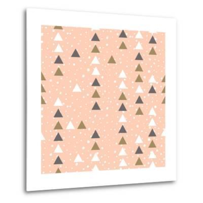 Pink Hipster Geometrical Seamless Vector Pattern.-Alenka Karabanova-Metal Print