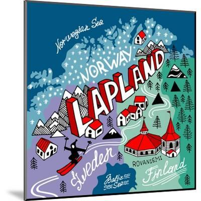 Illustrated Map of Lapland-Daria_I-Mounted Art Print