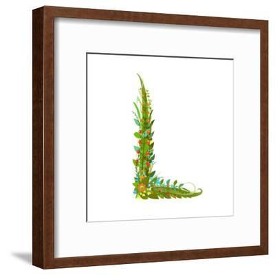 Alphabet Decorative Floral Letter L.-Popmarleo-Framed Art Print