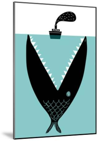 Big Fish Devouring a Ship-Complot-Mounted Art Print