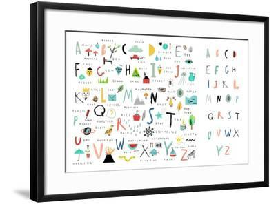 Cute Alphabet - Letters and Words-Lera Efremova-Framed Art Print