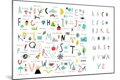 Cute Alphabet - Letters and Words-Lera Efremova-Mounted Art Print