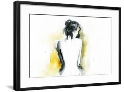 Beautiful Woman Body. Abstract Watercolor .Fashion Background-Anna Ismagilova-Framed Art Print