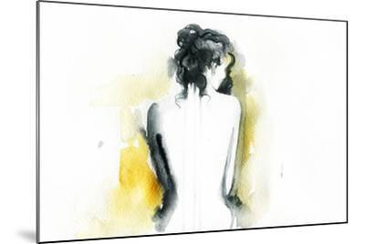 Beautiful Woman Body. Abstract Watercolor .Fashion Background-Anna Ismagilova-Mounted Art Print