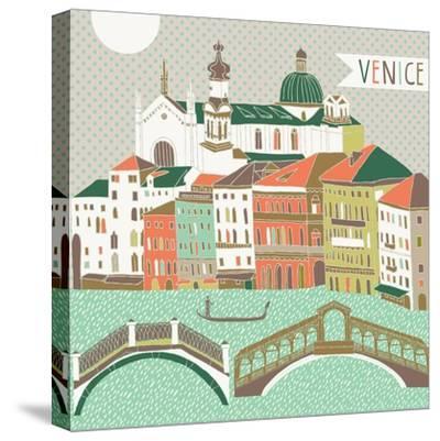Venice Print Design-Lavandaart-Stretched Canvas Print