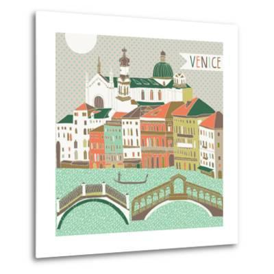 Venice Print Design-Lavandaart-Metal Print