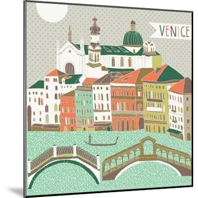 Venice Print Design-Lavandaart-Mounted Art Print