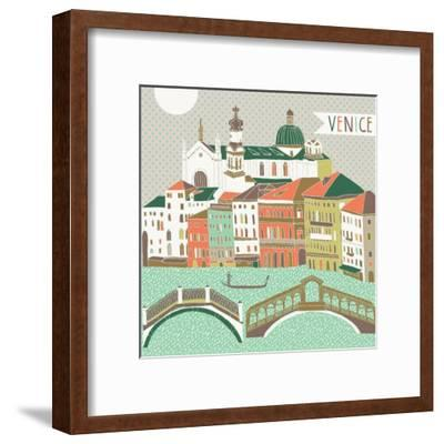 Venice Print Design-Lavandaart-Framed Art Print
