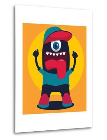 Happy Monster- braingraph-Metal Print