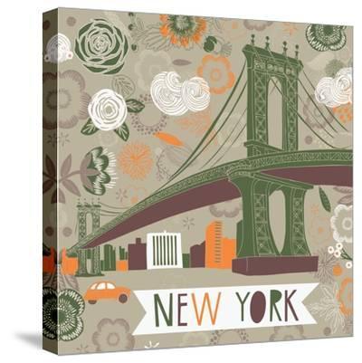 New York Print Design-Lavandaart-Stretched Canvas Print