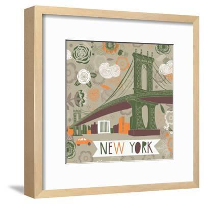 New York Print Design-Lavandaart-Framed Art Print
