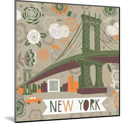 New York Print Design-Lavandaart-Mounted Art Print