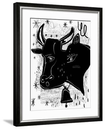 The Symbolic Image of a Cow-Dmitriip-Framed Art Print