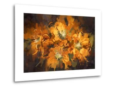 Abstract Flower Digital Painting,Illustration-Tithi Luadthong-Metal Print