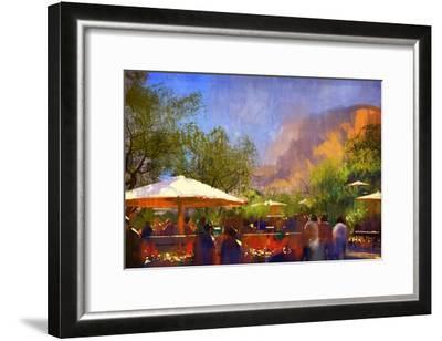 People Walking in the Park,Digital Painting,Illustration-Tithi Luadthong-Framed Art Print