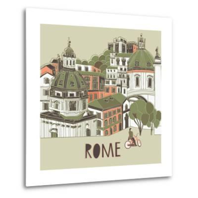 Rome Greeting Card Design-Lavandaart-Metal Print