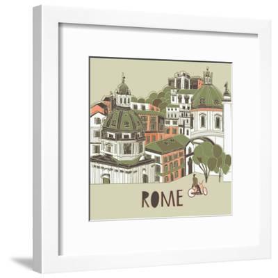 Rome Greeting Card Design-Lavandaart-Framed Art Print