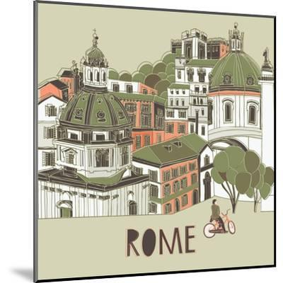 Rome Greeting Card Design-Lavandaart-Mounted Art Print