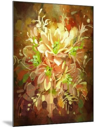 Bouquet of Flowers,Digital Painting,Illustration-Tithi Luadthong-Mounted Art Print