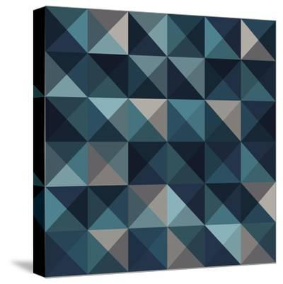 A Blue Abstract Vector Pattern Background-Mike Taylor-Stretched Canvas Print