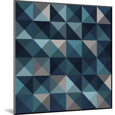 A Blue Abstract Vector Pattern Background-Mike Taylor-Mounted Art Print