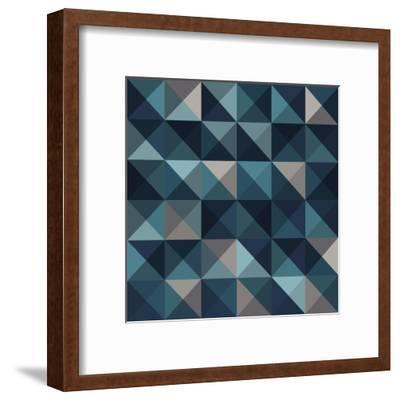 A Blue Abstract Vector Pattern Background-Mike Taylor-Framed Art Print