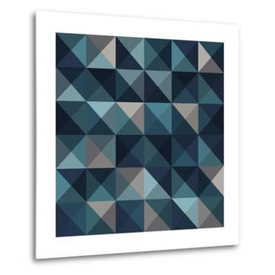 A Blue Abstract Vector Pattern Background-Mike Taylor-Metal Print