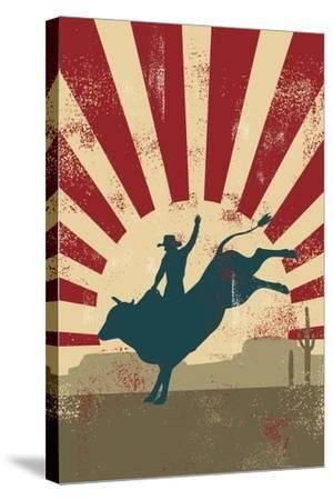 Grunge Rodeo Poster,Vector-Seita-Stretched Canvas Print