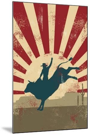 Grunge Rodeo Poster,Vector-Seita-Mounted Art Print