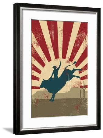 Grunge Rodeo Poster,Vector-Seita-Framed Art Print
