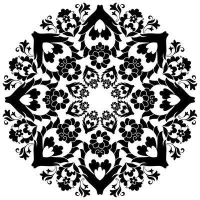 Versions of Ottoman Decorative Arts, Abstract Flowers- antsvgdal-Framed Art Print