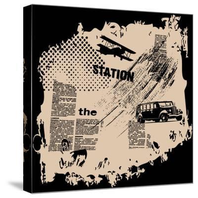 Grunge Vector Background-elanur us-Stretched Canvas Print