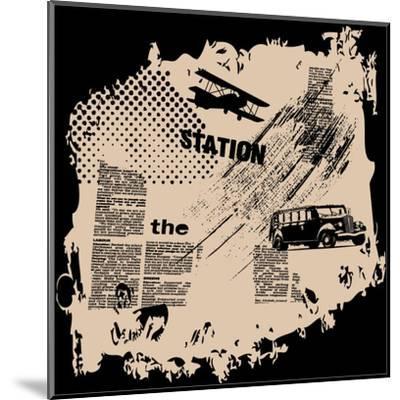 Grunge Vector Background-elanur us-Mounted Art Print