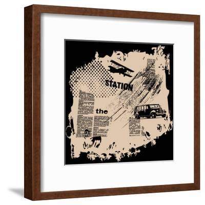 Grunge Vector Background-elanur us-Framed Art Print