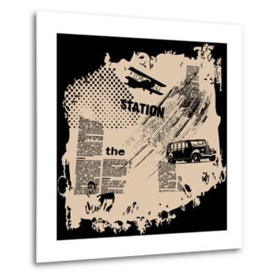 Grunge Vector Background-elanur us-Metal Print